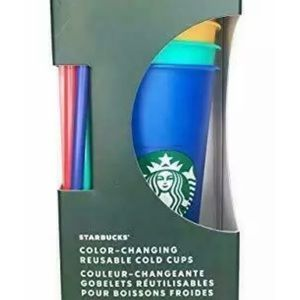 Starbucks Color changing cups in box